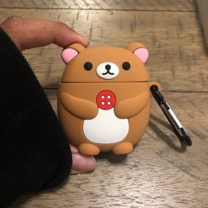 Rilakkuma AirPod case with clip